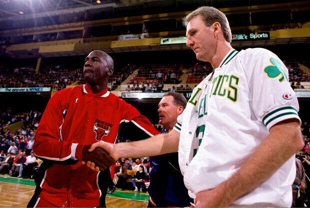 Michael Jordan y Larry Bird / Getty Images