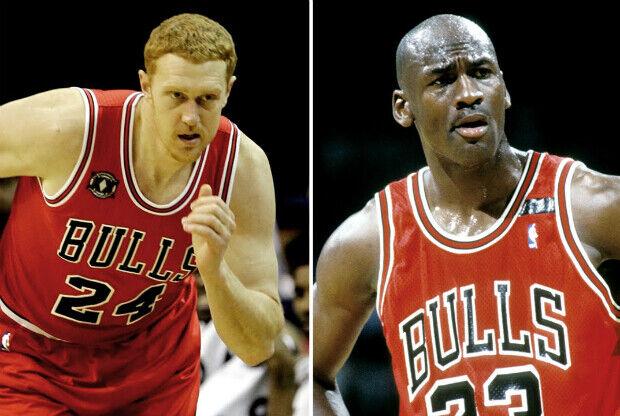 Michael Jordan y Brian Scalabrini / Getty Images