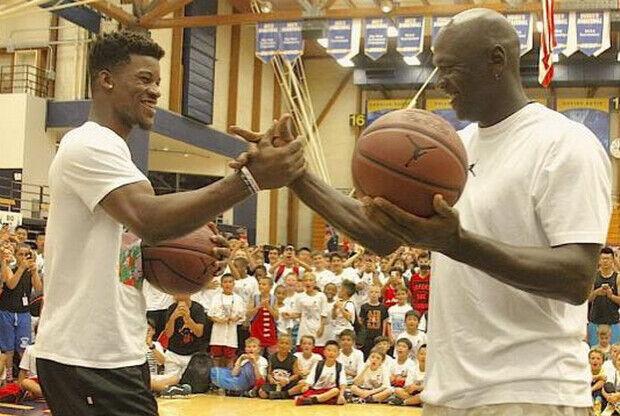 Michael Jordan y Jimmy Butler