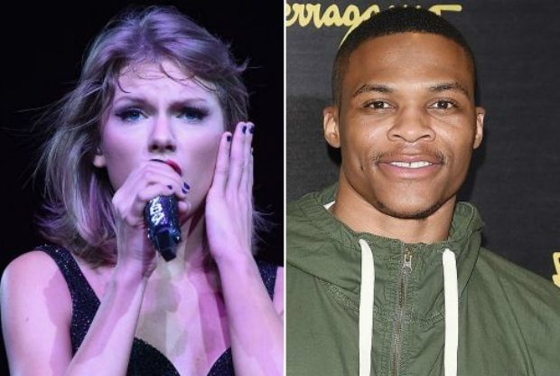 Russell Westbrook y Taylor Swift / Getty Images