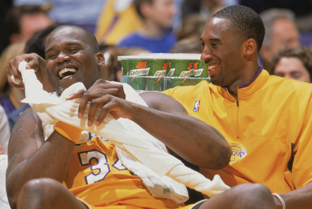 Shaquille O'Neal y Kobe Bryant / Getty Images