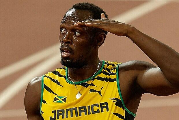 Usain Bolt celebra el oro mundial 'a lo LeBron James'