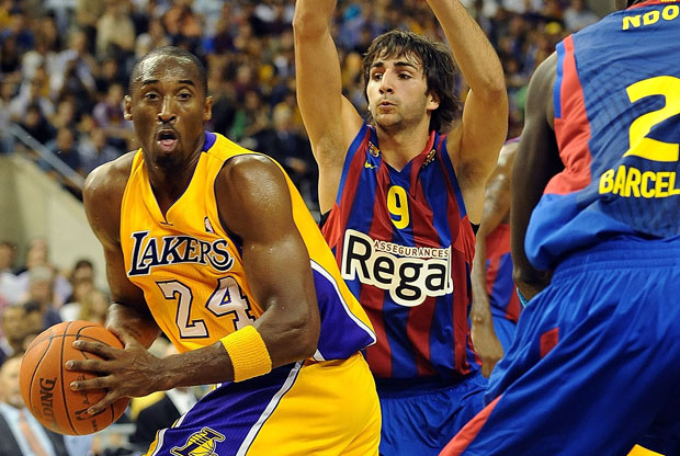 Kobe Bryant con el Barcelona