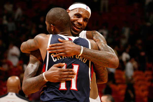 LeBron James y Jamal Crawford