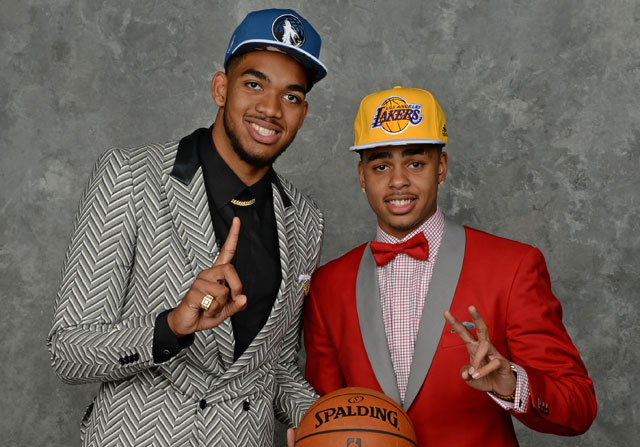 Karl-Anthony Towns y D'Angelo Russell