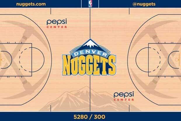 Denver Nuggets cambia el diseño de su cancha