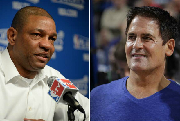Doc Rivers y Mark Cuban, cara a cara.