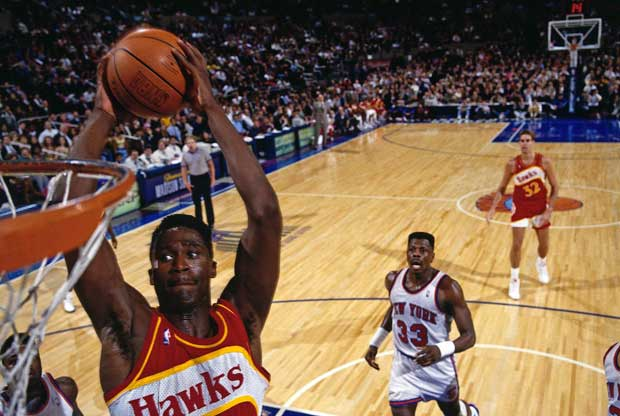 Dominique Wilkins, jugador de Atlanta Hawks