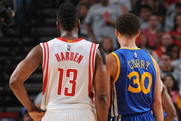 James Harden y Stephen Curry cara a caras