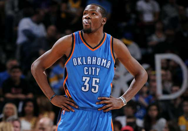 Kevin Durant jugando con Oklahoma City Thunder