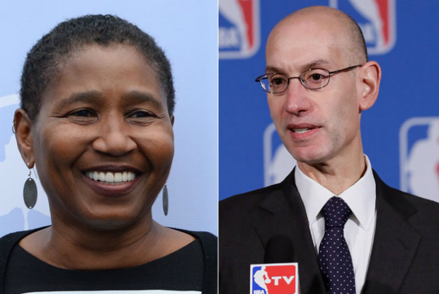 Michele Robets y Adam Silver / Getty Images