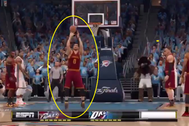 Kevin Love en el NBA Live 16