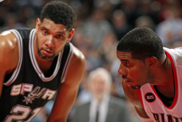 Tim Duncan y LaMarcus Aldridge / Getty Images