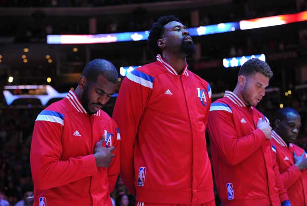 Blake Griffin, Chris Paul y DeAndre Jordan