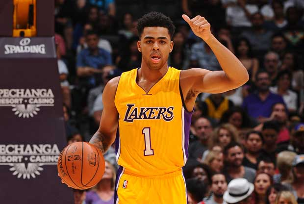 D'Angelo Russell, jugador de Los Angeles Lakers