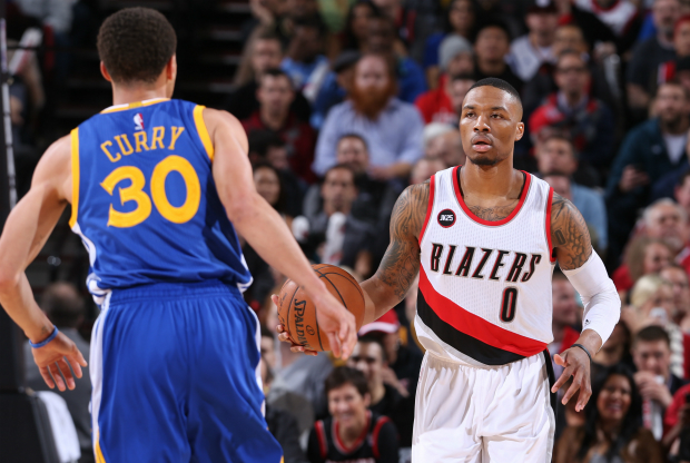 Damian Lillard vs. Stephen Curry