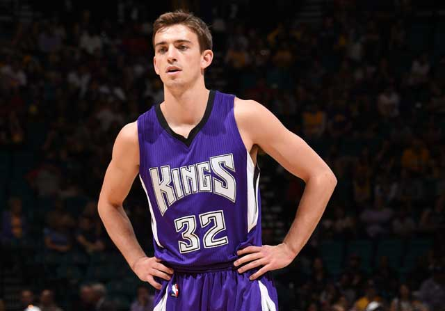 David Stockton, en un partido con Sacramento Kings