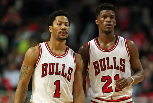 Derrick Rose y Jimmy Butler en Chicago Bulls