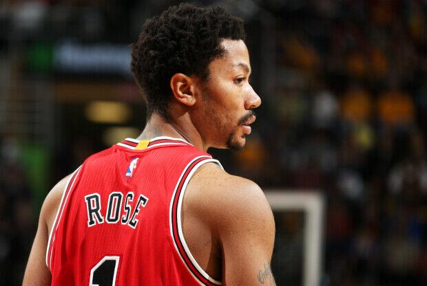 Derrick Rose con la camiseta de Chicago Bulls