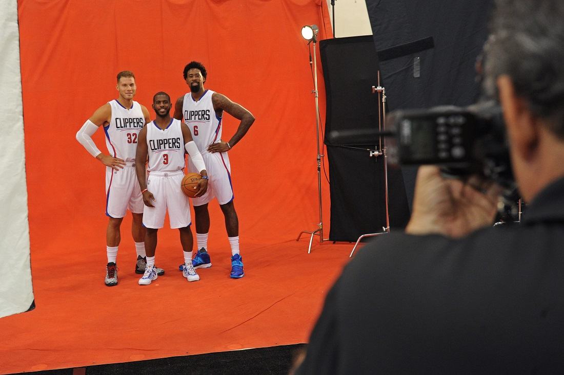 Los Angeles Clippers Media Day Behind the Scenes 2015