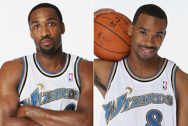 Gilbert Arenas y Javaris Crittenton en Washington Wizards