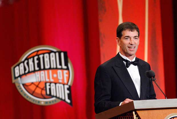 John Stockton, en la ceremonia del Hall of Fame de la NBA en 2009