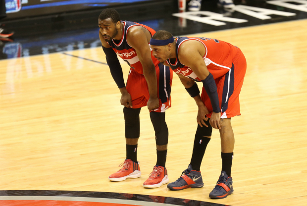 John Wall y Paul Pierce en Washington Wizards