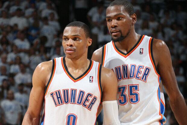 Kevin Durant y Russell Westbrook son la pareja de moda en la NBA