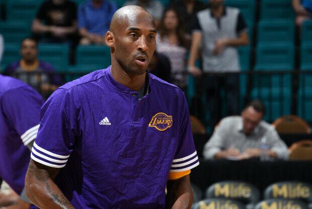 Kobe Bryant calentando