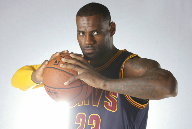 LeBron James en el media day de Cleveland Cavaliers