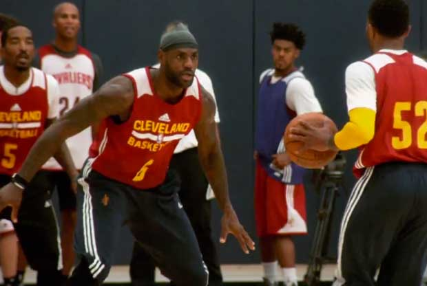 LeBron James, en el training camp de Cleveland Cavaliers