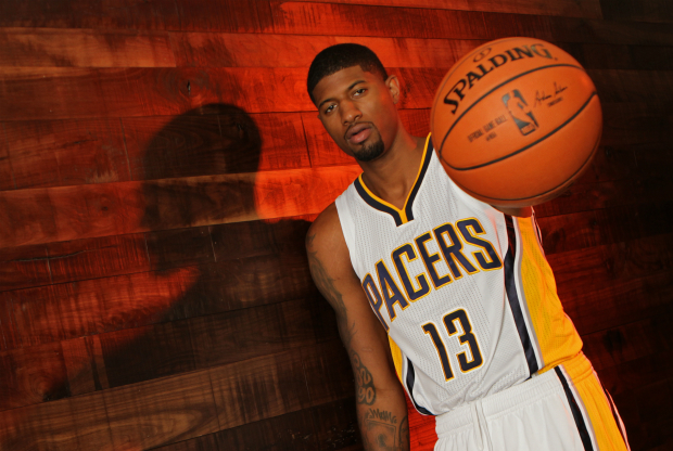 Paul George en el media day de Indiana Pacers