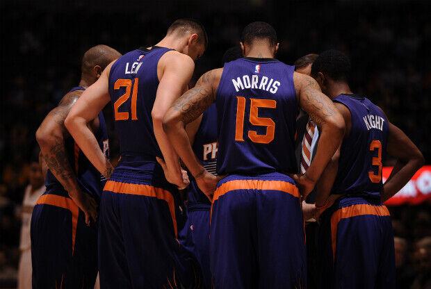 Phoenix Suns en un tiempo muerto