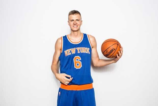 Porzingis en el media day de New York Knicks