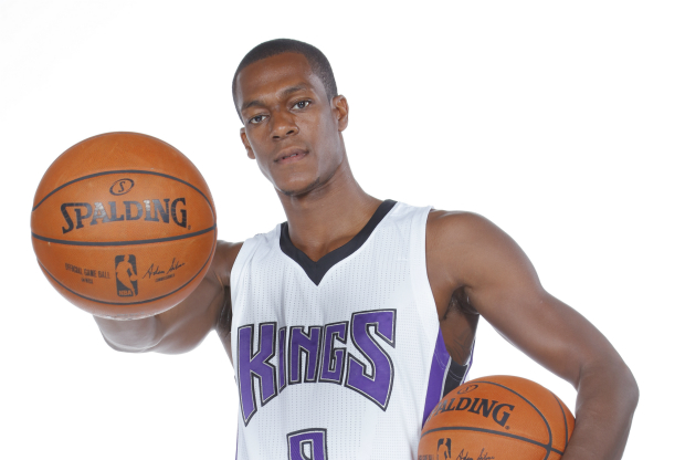 Rajon Rondo en el media day de Sacramento Kings