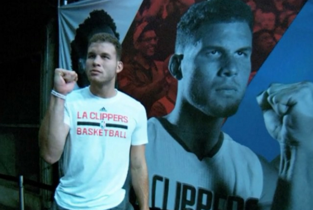 Blake Griffin entrando al Staples Center