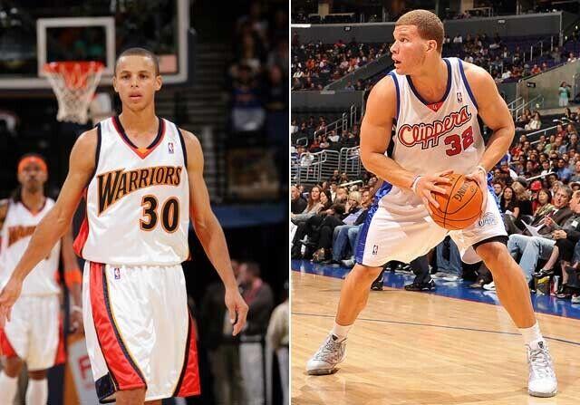 Blake Griffin y Stephen Curry en su primer año en la NBA