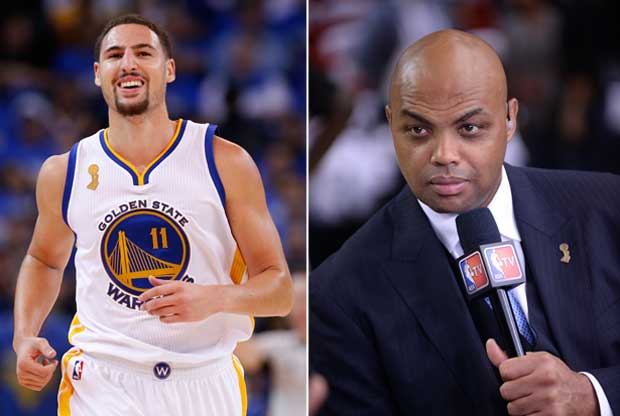 Klay Thompson se ríe de Charles Barkley