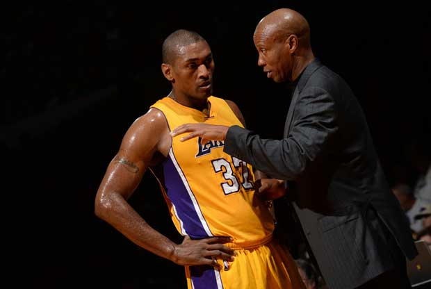 Metta World Peace, junto a Byron Scott