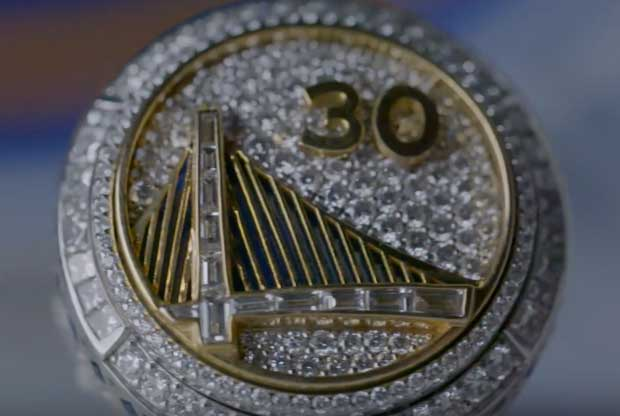 El anillo de Golden State Warriors