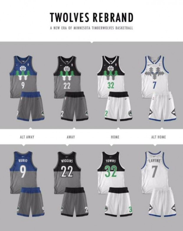 Uniforme Minnesota Timberwolves