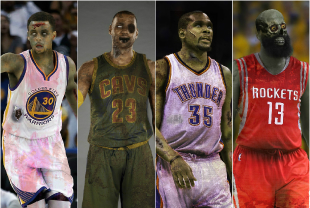 Las estrellas de la NBA convertidas en zombies