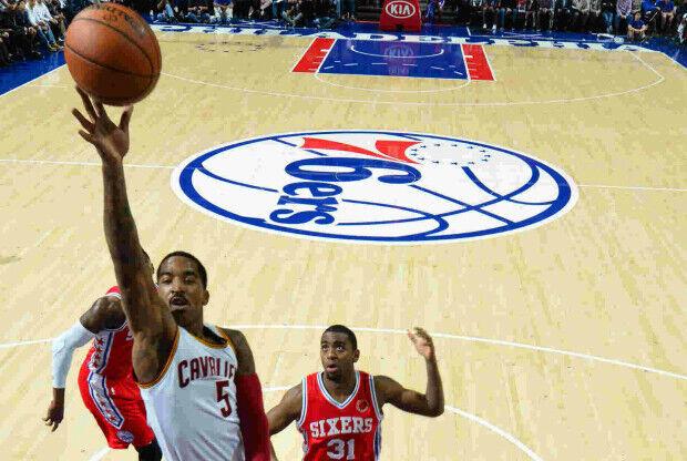 J. R. Smith en el partido ante Filadelfia 76ers