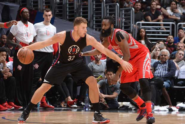 Blake Griffin contra James Harden
