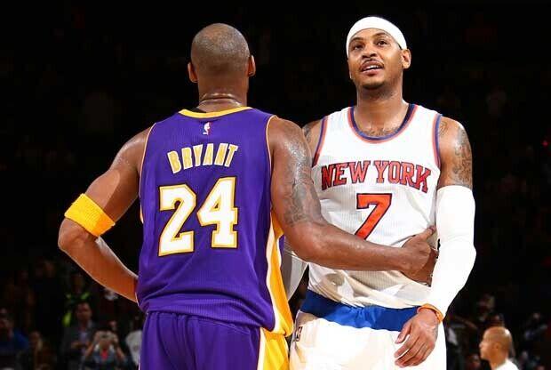 Carmelo Anthony y Kobe Bryant