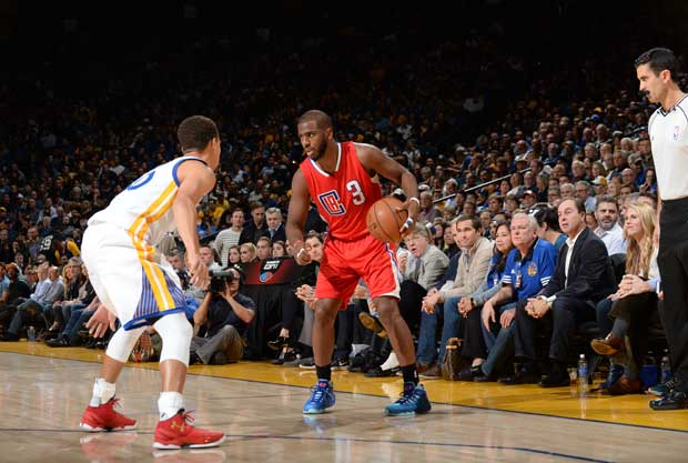 Precioso duelo entre Chris Paul y Stephen Curry
