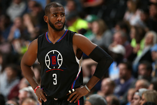 Chris Paul con el uniforme alternativo de Los Angeles Clippers