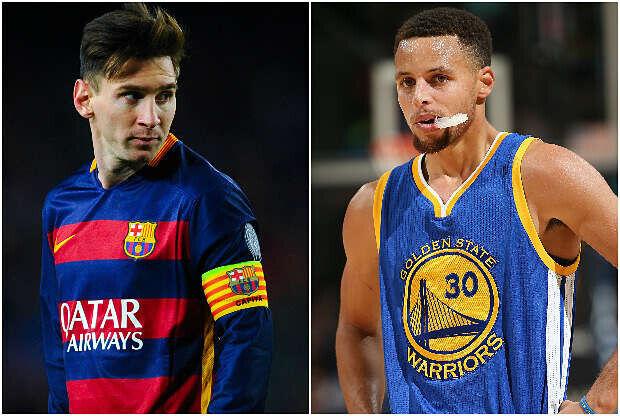 Stephen Curry se compara con Lionel Messi
