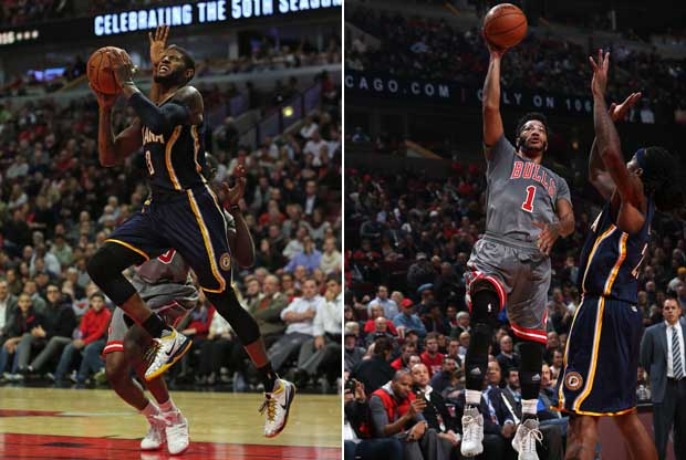 Derrick Rose y Paul George