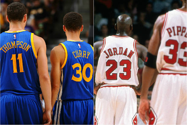 Golden State Warriors quiere superar a los Chicago Bulls de Michael Jordan